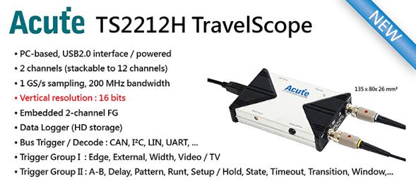 TravelBus + TravelScope = Multi-Signal-Oszilloskop = MSO