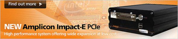 Embedded-PC mit Atom 525 Prozessor und PCIe-Steckplatz