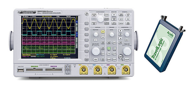HAMEK HMO3000 + TravelLOgic = Mixed-Signal-Analyzer (MSO)