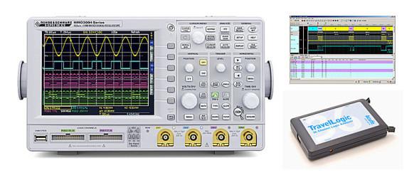 HAMEG - HMO3000 Serie + TravelLogic = Mixed-Signal-Analyzer