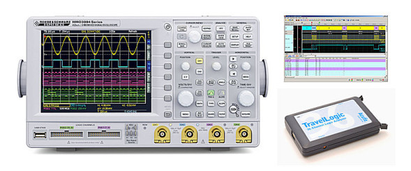 HAMEG - HMO3000 Serie + TravelLogic = Mixed-Signal-Analyzer