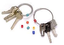 KeyRing Schlüsselblomben als Stahlring oder mit flexiblem Stahlseil