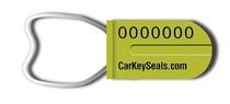 Low-Cost Schlüsselplombe mit Selbstverriegelung und Plombennummer