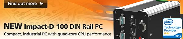 Impact-D100 - Embedded-PC - Hutschienenmontage
